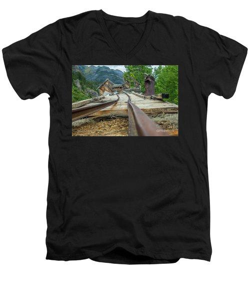 Empty Tracks Men's V-Neck T-Shirt