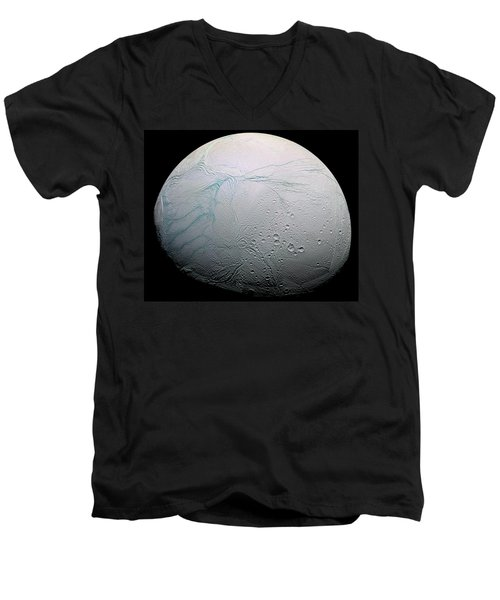 Men's V-Neck T-Shirt featuring the photograph Enceladus Hd by Adam Romanowicz