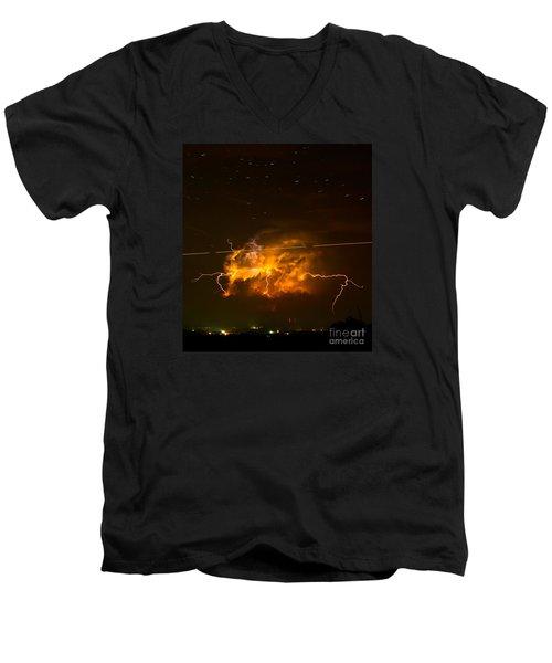 Enchanted Rock Lightning Men's V-Neck T-Shirt