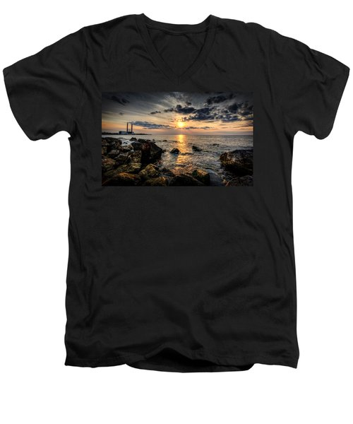 End Of The Day Men's V-Neck T-Shirt by Everet Regal