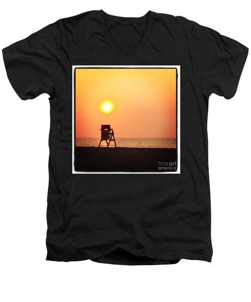 Endless Summer Men's V-Neck T-Shirt by LeeAnn Kendall