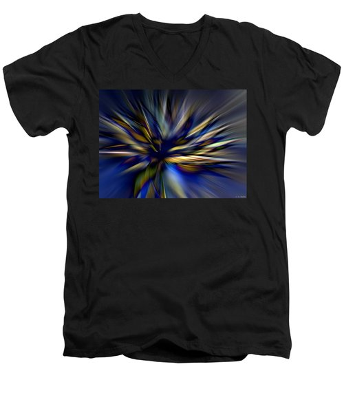 Energy In Flight Men's V-Neck T-Shirt by Lauren Radke