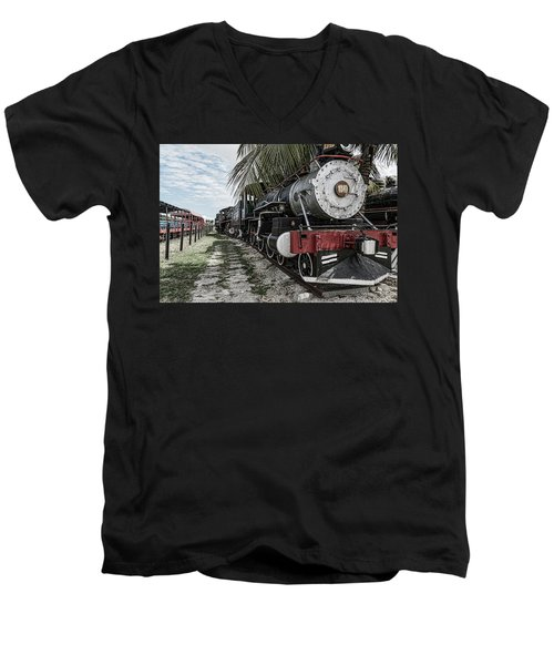 Engine 1342 Parked Men's V-Neck T-Shirt