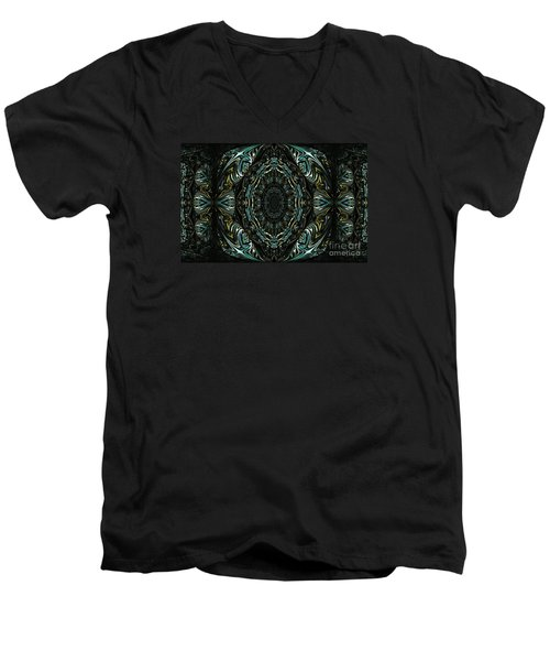 Men's V-Neck T-Shirt featuring the photograph Enigma. Special For August by Oksana Semenchenko