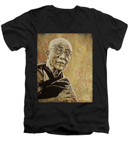 Enlightened Men's V-Neck T-Shirt by Stuart Engel