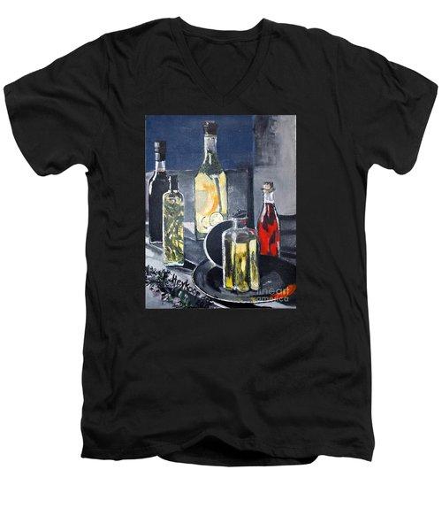 Enliven Salads Men's V-Neck T-Shirt by Francine Heykoop