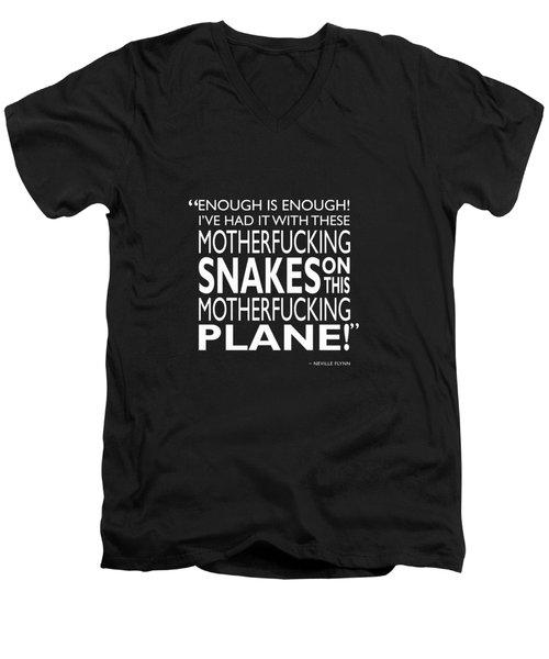 Enough Is Enough Men's V-Neck T-Shirt by Mark Rogan