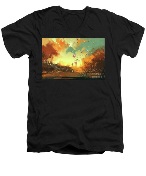 Enter The Fantasy Land Men's V-Neck T-Shirt