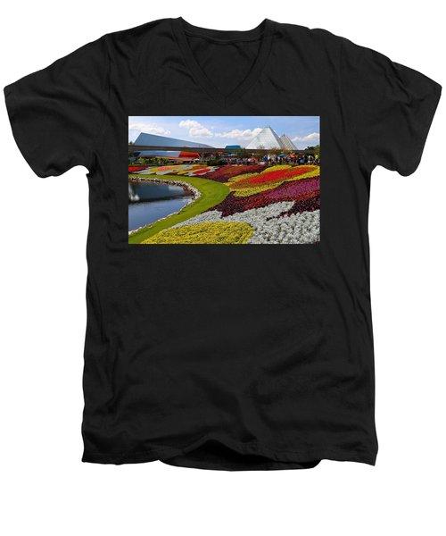 Epcot Gardens Men's V-Neck T-Shirt
