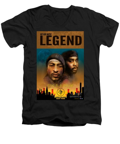 Eric B. And Rakim Men's V-Neck T-Shirt