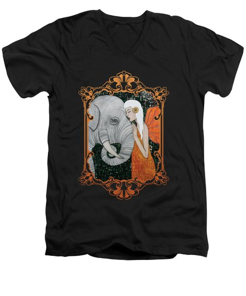 Erynn Rose Men's V-Neck T-Shirt by Natalie Briney