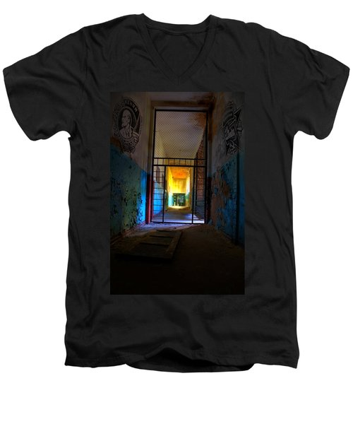 Escaped Men's V-Neck T-Shirt by Nathan Wright
