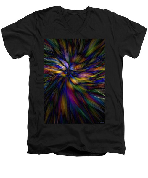 Essence Men's V-Neck T-Shirt by Lauren Radke