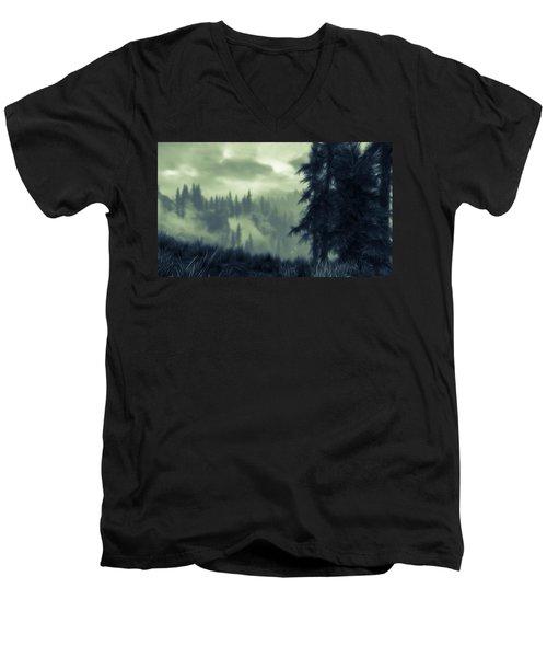 Eternal Shadow Falls  Men's V-Neck T-Shirt