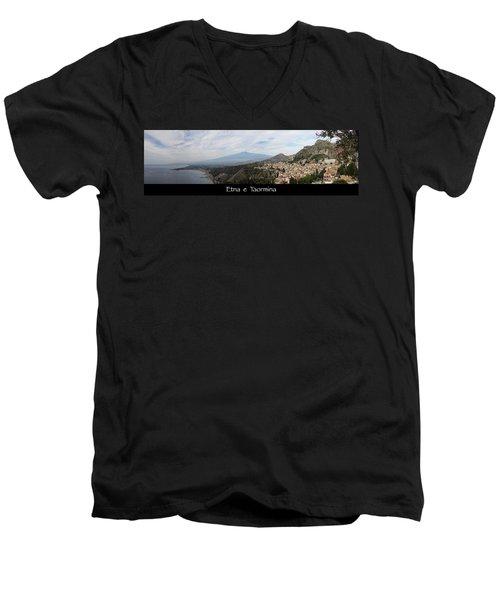 Etna E Taormina Men's V-Neck T-Shirt