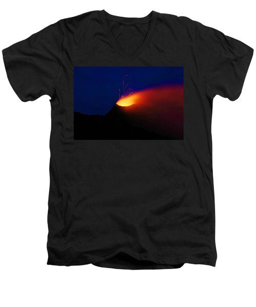 Etna Men's V-Neck T-Shirt