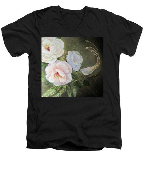 Etre Fleur  Men's V-Neck T-Shirt by Patricia Schneider Mitchell