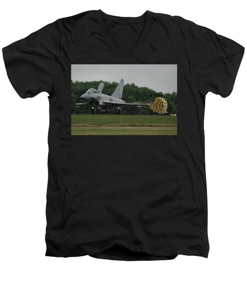 Eurofighter Typhoon Fgr4 Men's V-Neck T-Shirt by Tim Beach