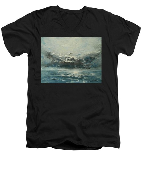 Even If The Skies Get Rough Men's V-Neck T-Shirt by Jane See