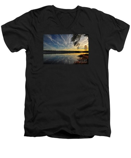 Evening Calm Men's V-Neck T-Shirt