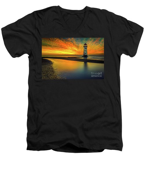 Men's V-Neck T-Shirt featuring the photograph Evening Delight by Adrian Evans