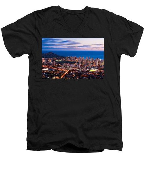 Evening In Honolulu Men's V-Neck T-Shirt