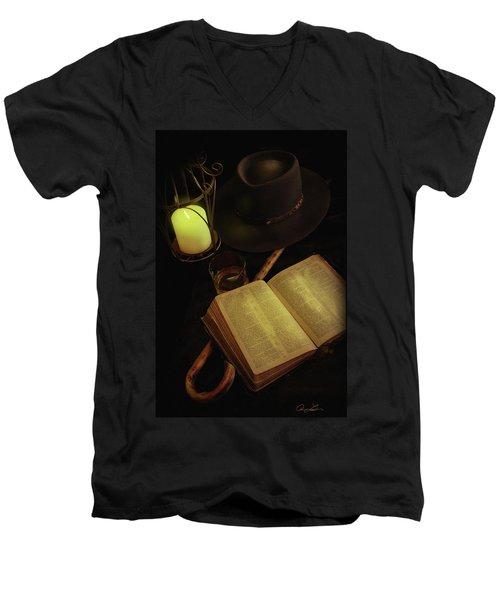 Evening Reading Men's V-Neck T-Shirt