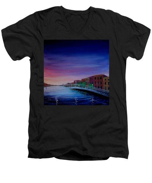 Evening Reflections Dublin  Men's V-Neck T-Shirt