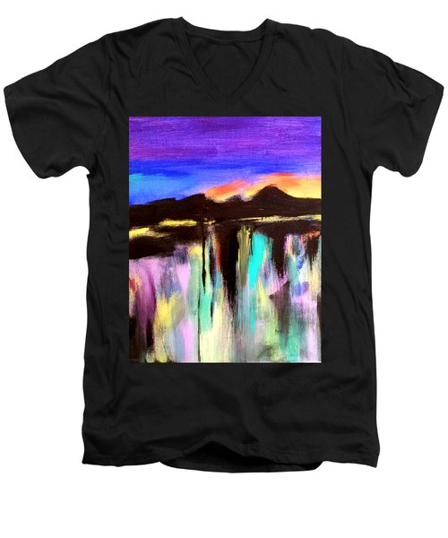 Evening Reflections Men's V-Neck T-Shirt