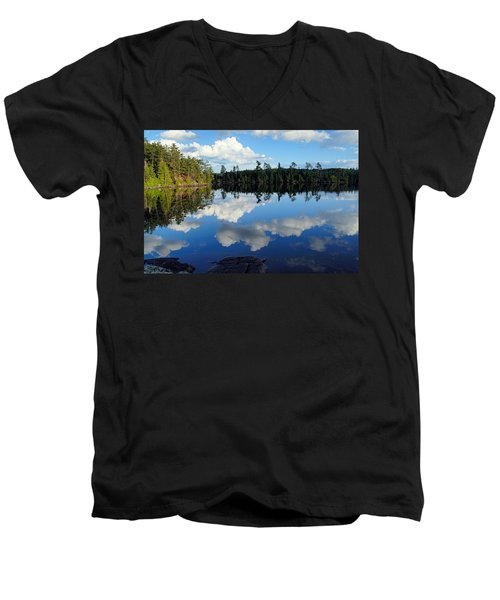 Evening Reflections On Spoon Lake Men's V-Neck T-Shirt