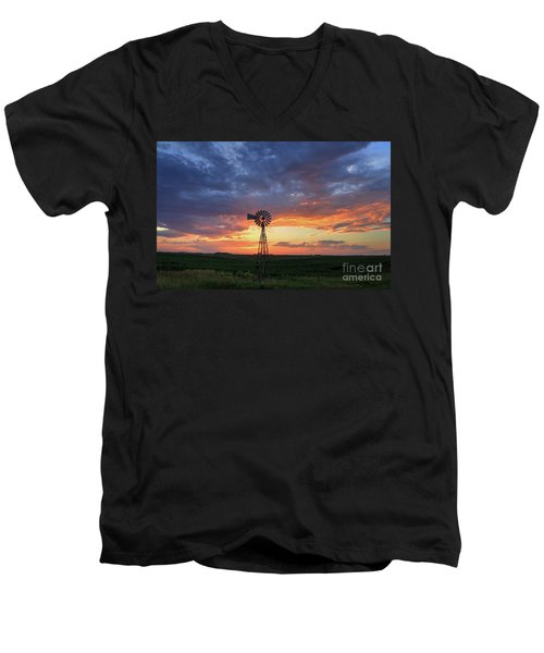 Evening Solitude Men's V-Neck T-Shirt