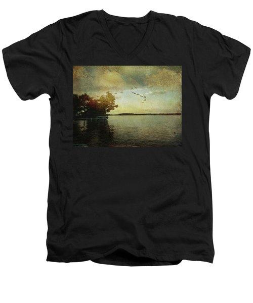Evening, The Lake Men's V-Neck T-Shirt