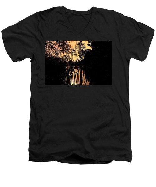 Evening Time Men's V-Neck T-Shirt by Keith Elliott