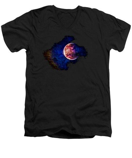 Ever Changing Moon Color Waves Men's V-Neck T-Shirt