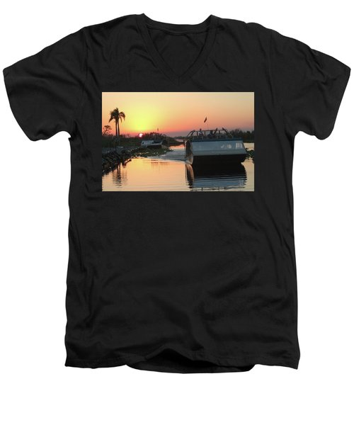 Everglades Sunset Men's V-Neck T-Shirt