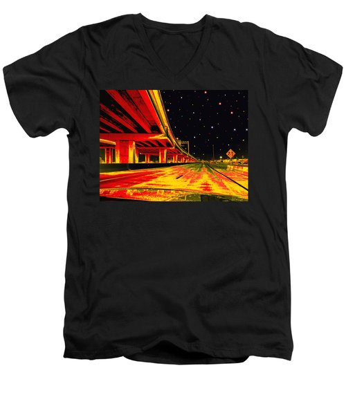 Men's V-Neck T-Shirt featuring the digital art Are We There Yet by Wendy J St Christopher