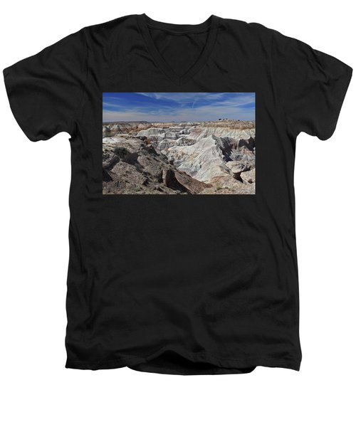 Men's V-Neck T-Shirt featuring the photograph Evident Erosion by Gary Kaylor