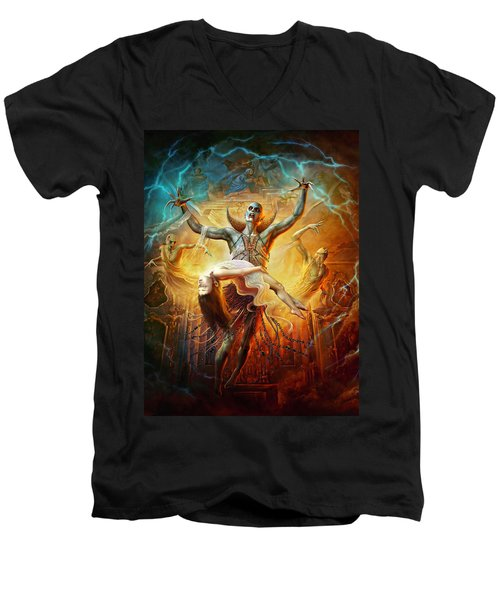 Evil God Men's V-Neck T-Shirt