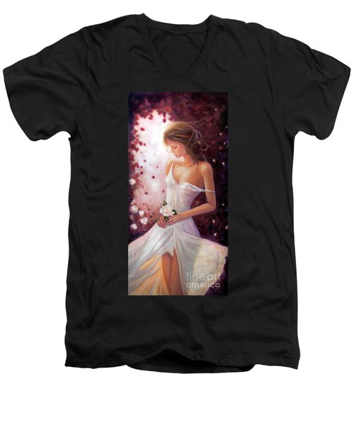Evocative Scent Of A Summer Rose Men's V-Neck T-Shirt by Michael Rock