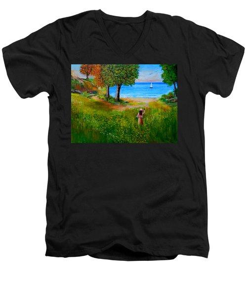 Expectation  Men's V-Neck T-Shirt