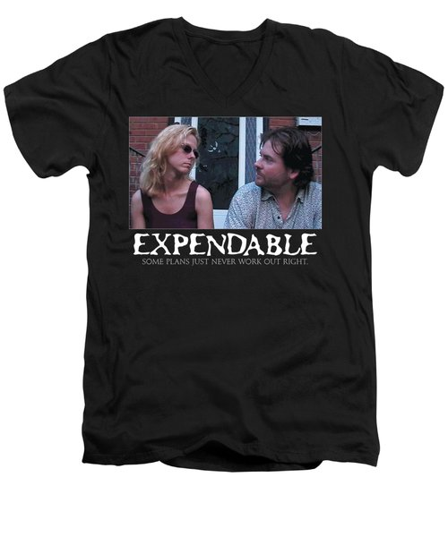 Expendable 2 - Black Men's V-Neck T-Shirt by Mark Baranowski