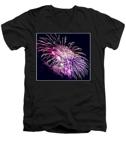 Exploding Stars Men's V-Neck T-Shirt