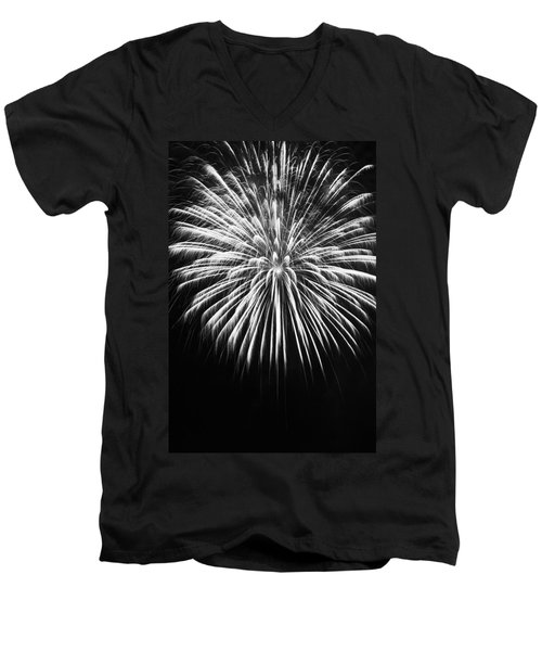 Men's V-Neck T-Shirt featuring the photograph Explosion by Colleen Coccia