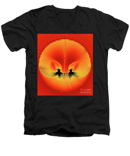 Explosive Eruption Men's V-Neck T-Shirt