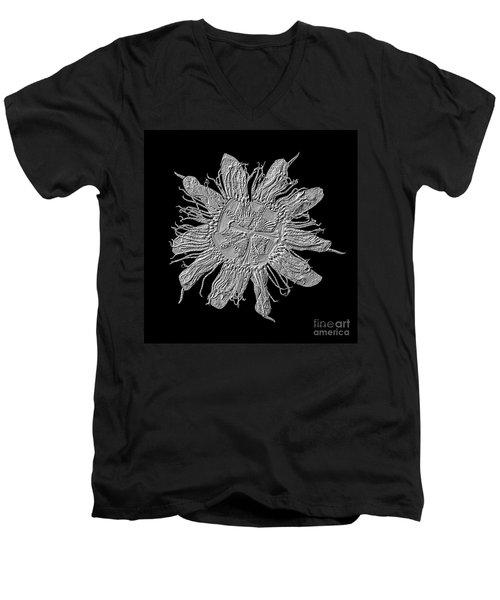 Expressive Passion Flower Manipulation 50674k3 Men's V-Neck T-Shirt
