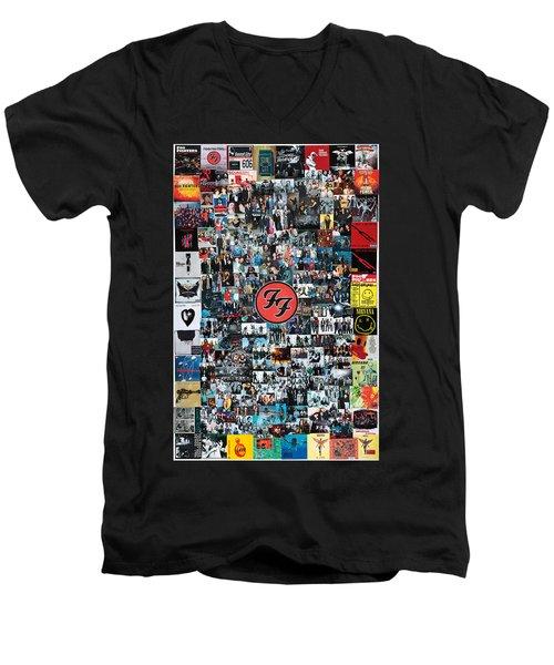 Extraordinary Hero Collage Men's V-Neck T-Shirt