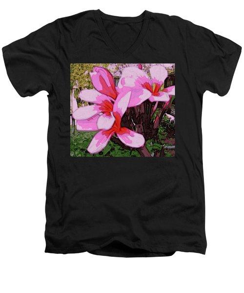 Exuberance Men's V-Neck T-Shirt by Winsome Gunning
