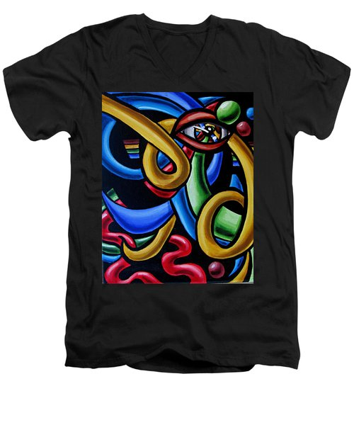 Eye Am The Prize - Chromatic Abstract Art Painting - Print - Ai P. Nilson Men's V-Neck T-Shirt