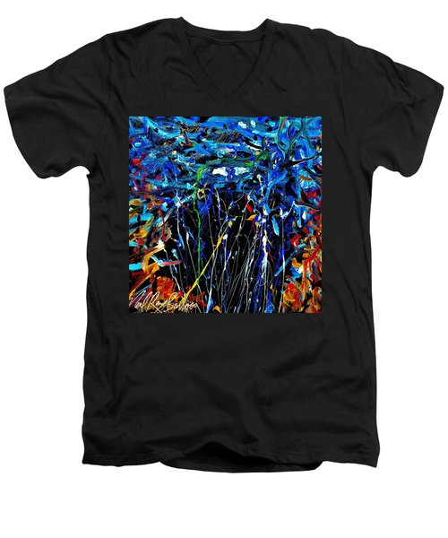 Eye In The Sky And Water Men's V-Neck T-Shirt