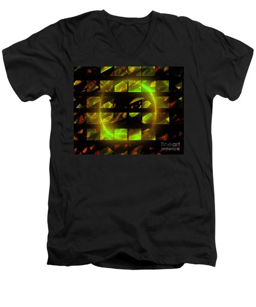 Men's V-Neck T-Shirt featuring the digital art Eye In The Window by Victoria Harrington